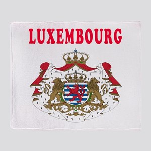 Luxembourg Coat Of Arms Designs Throw Blanket