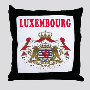 Luxembourg Coat Of Arms Designs Throw Pillow