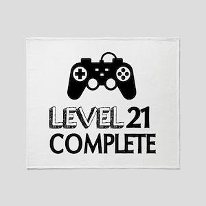 Level 21 Complete Birthday Designs Throw Blanket
