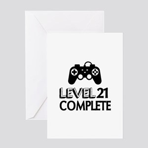 Level 21 Complete Birthday Designs Greeting Card