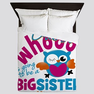 Personalized Big Sister - Owl Queen Duvet