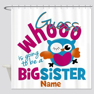 Personalized Big Sister - Owl Shower Curtain