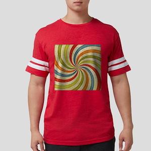 Psychedelic Retro Swirl Mens Football Shirt