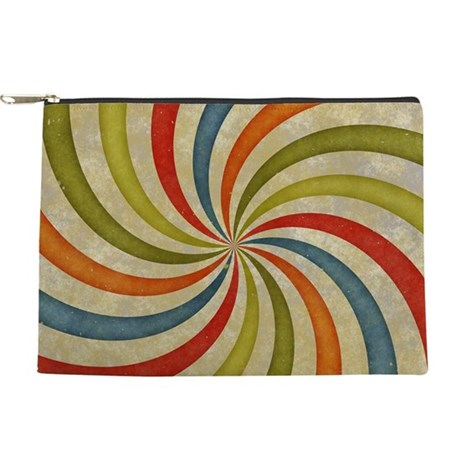Psychedelic Retro Swirl Makeup Pouch