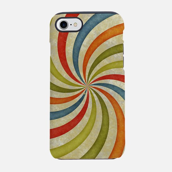 Psychedelic Retro Swirl iPhone 7 Tough Case