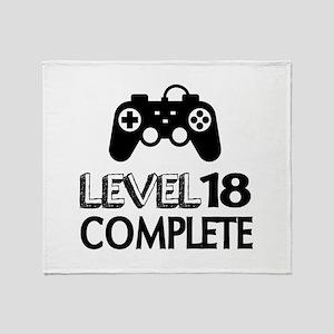 Level 18 Complete Birthday Designs Throw Blanket