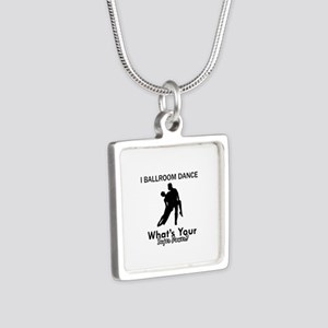 Ballroom my superpower Silver Square Necklace