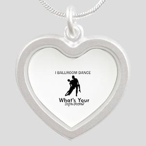 Ballroom my superpower Silver Heart Necklace