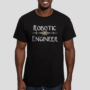 Robotic Engineer Line Men's Fitted T-Shirt (dark)
