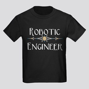 Robotic Engineer Line Kids Dark T-Shirt