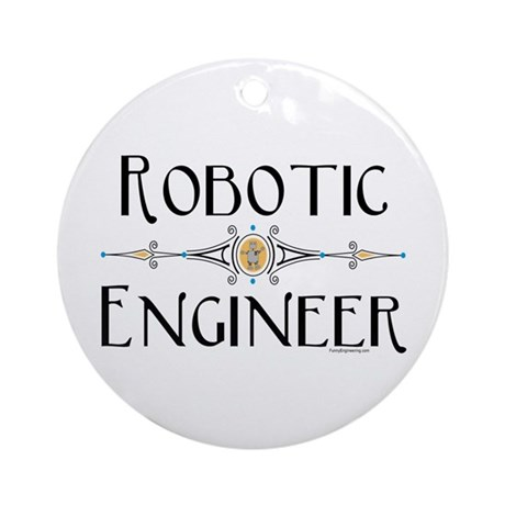 Robotic Engineer Line Ornament (Round)