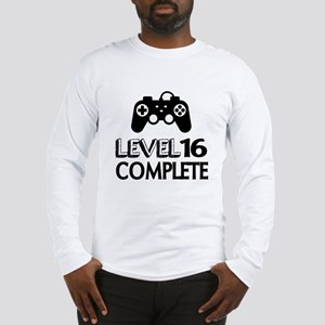 Level 16 Complete Birthday Des Long Sleeve T-Shirt