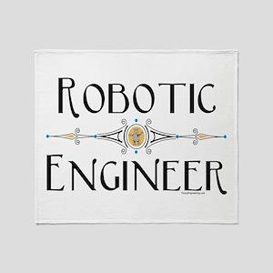 Robotic Engineer Line Throw Blanket