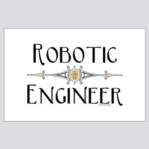 Robotic Engineer Line Large Poster