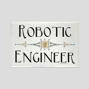 Robotic Engineer Line Rectangle Magnet