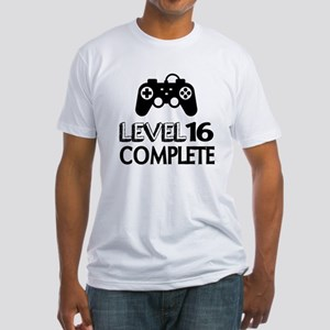 Level 16 Complete Birthday Designs Fitted T-Shirt