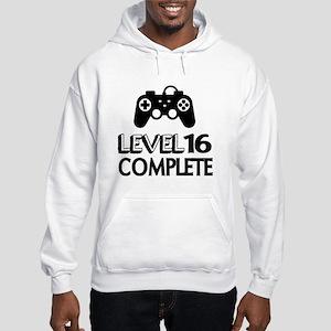 Level 16 Complete Birthday Desig Hooded Sweatshirt