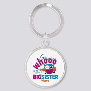 Personalized Big Sister - Owl Keychains