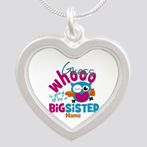 Personalized Big Sister - Owl Necklaces
