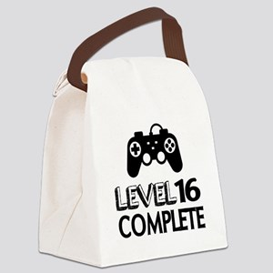 Level 16 Complete Birthday Design Canvas Lunch Bag