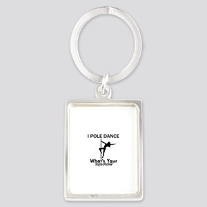 Poledance my superpower Portrait Keychain