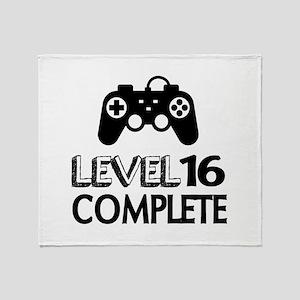 Level 16 Complete Birthday Designs Throw Blanket