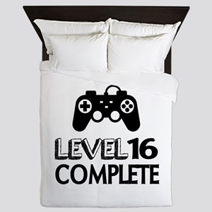 Level 16 Complete Birthday Designs Queen Duvet