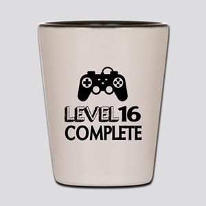 Level 16 Complete Birthday Designs Shot Glass