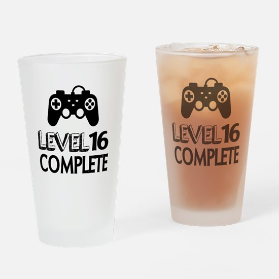 Level 16 Complete Birthday Designs Drinking Glass