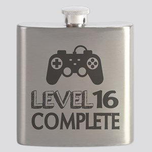 Level 16 Complete Birthday Designs Flask