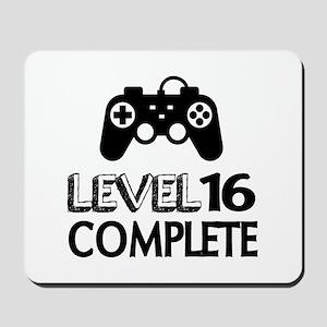 Level 16 Complete Birthday Designs Mousepad