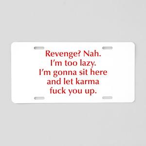 revenge-nah-opt-red Aluminum License Plate