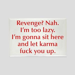 revenge-nah-opt-red Rectangle Magnet