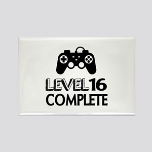 Level 16 Complete Birthday Design Rectangle Magnet