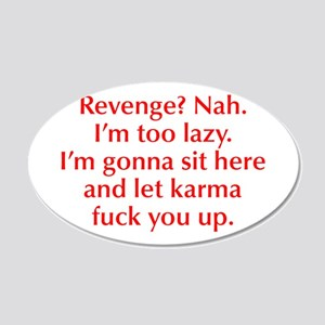 revenge-nah-opt-red Wall Decal
