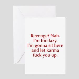 revenge-nah-opt-red Greeting Card