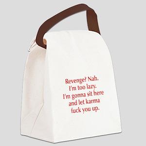 revenge-nah-opt-red Canvas Lunch Bag