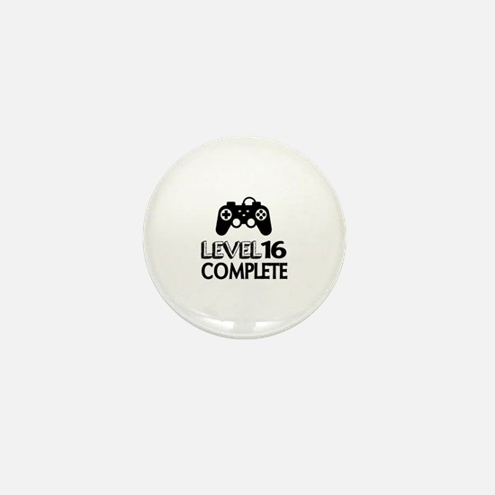 Level 16 Complete Birthday Designs Mini Button