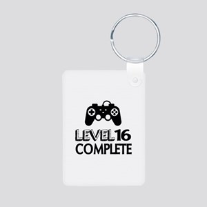 Level 16 Complete Birthday Aluminum Photo Keychain