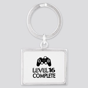 Level 16 Complete Birthday Desi Landscape Keychain