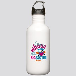Personalized Big Sister - Owl Sports Water Bottle