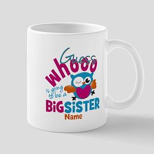 Personalized Big Sister - Owl Small Mug
