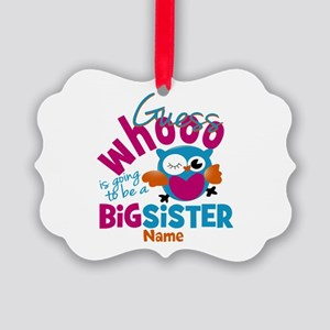Personalized Big Sister - Owl Picture Ornament