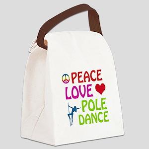 Peace Love Poledance Canvas Lunch Bag