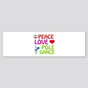Peace Love Poledance Sticker (Bumper)