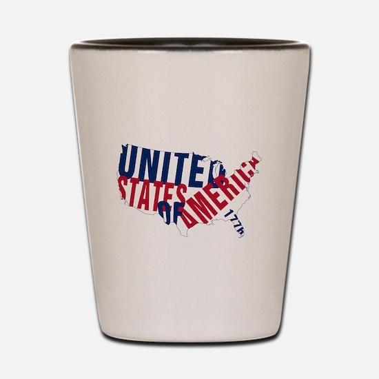 USA since 1776 Shot Glass
