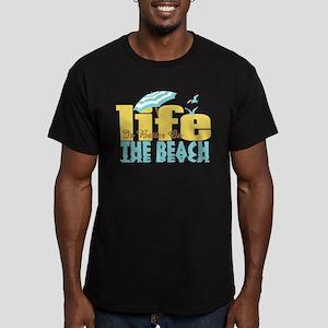 Life's Better Beach Men's Fitted T-Shirt (dark)
