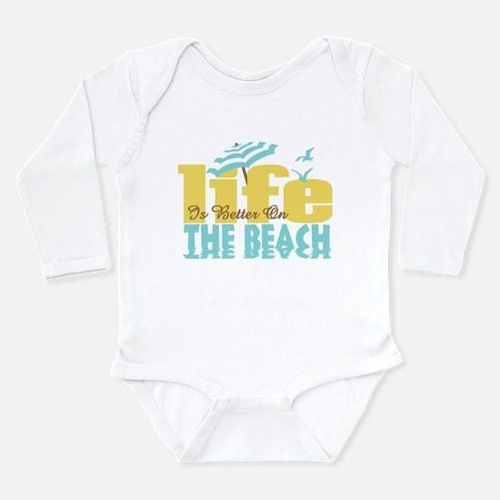 Life's Better Beach Long Sleeve Infant Bodysuit