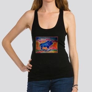 Buffalo, colorful, art! Racerback Tank Top