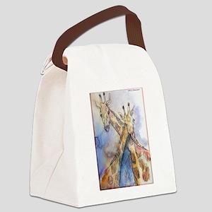 Giraffes! wildlife art Canvas Lunch Bag